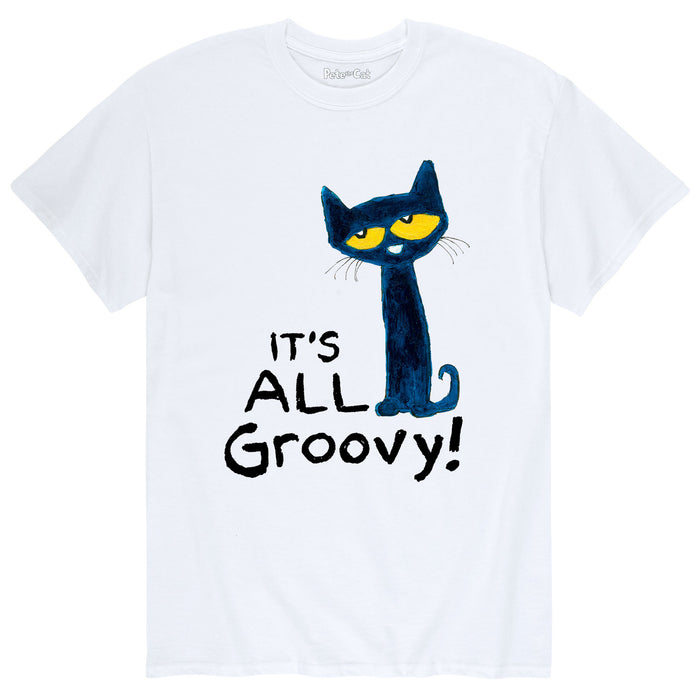 Pete the Cat It's All Groovy Men's Short Sleeve T-Shirt
