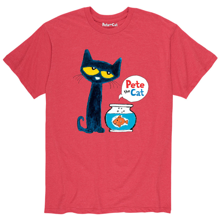 Pete the Cat™ - Pete And Goldfish - Men's Short Sleeve T-Shirt
