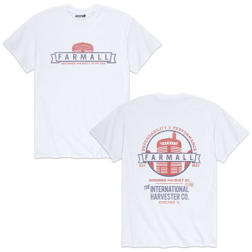 Farmall Designed And Built  Mens Short Sleeve Tee
