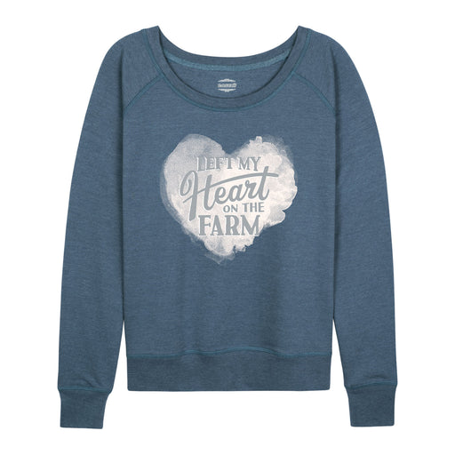 Left My Heart On The Farm Case IH Ladies French Terry Pullover