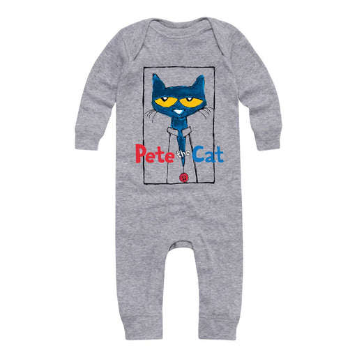 Pete The Cat Frame With Button Infant Long Legged Bodysuit