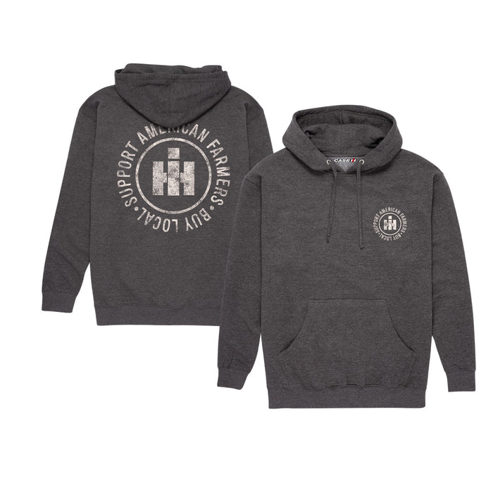 Support Your Local Farmers Logo Men's Pullover Hoodie