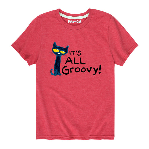 Pete The Cat It'S All Groovy Kids Short Sleeve Tee