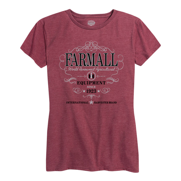 Farmall Equipment Ladies Short Sleeve Classic Fit Tee