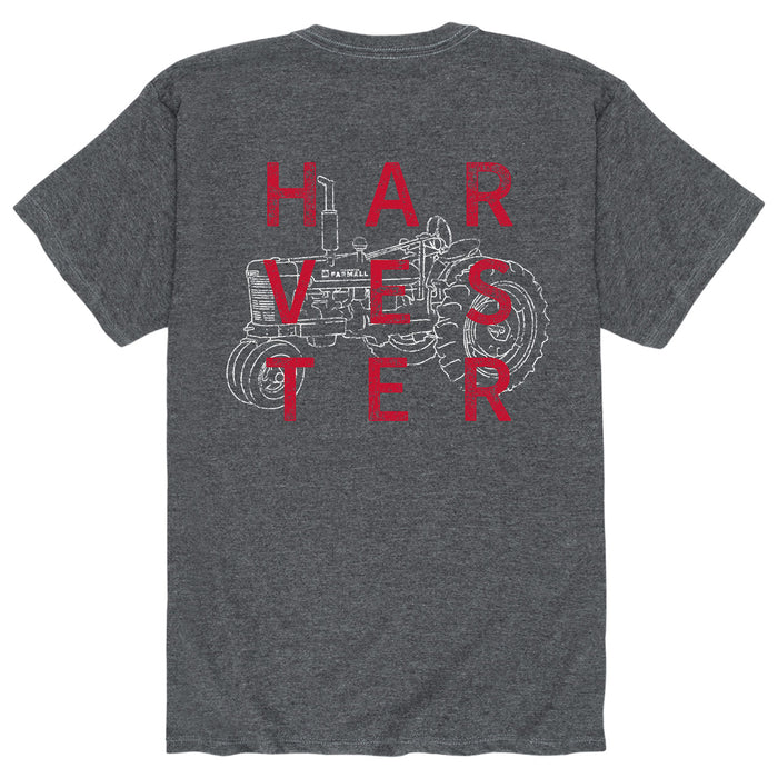 Square Harvester Wline Tractor Mens Short Sleeve Tee