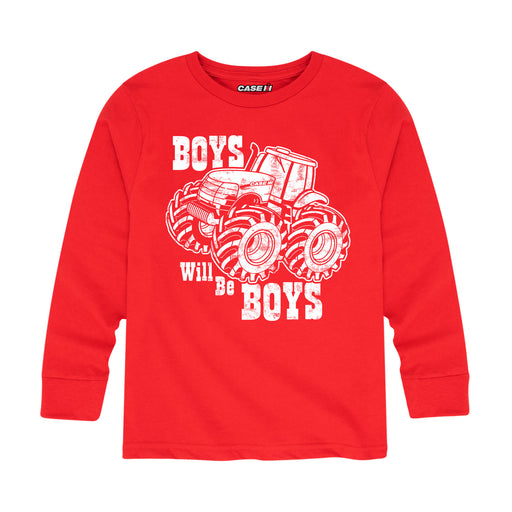 Case IH Boys Will Be Boys Kids Long Sleeve Tee