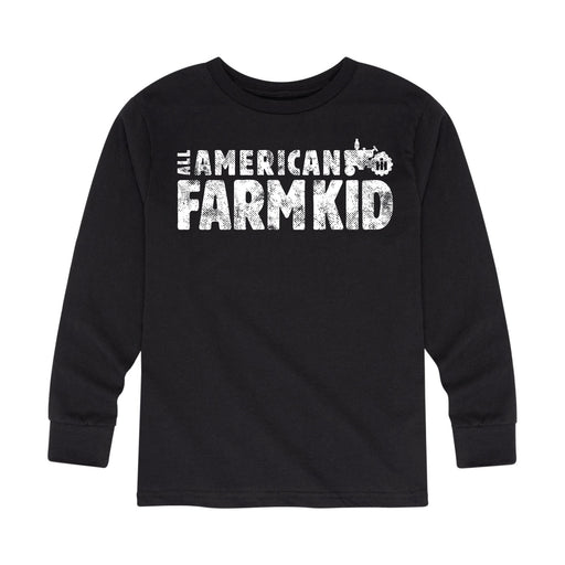 All American Farm Kid Toddler Long Sleeve Tee
