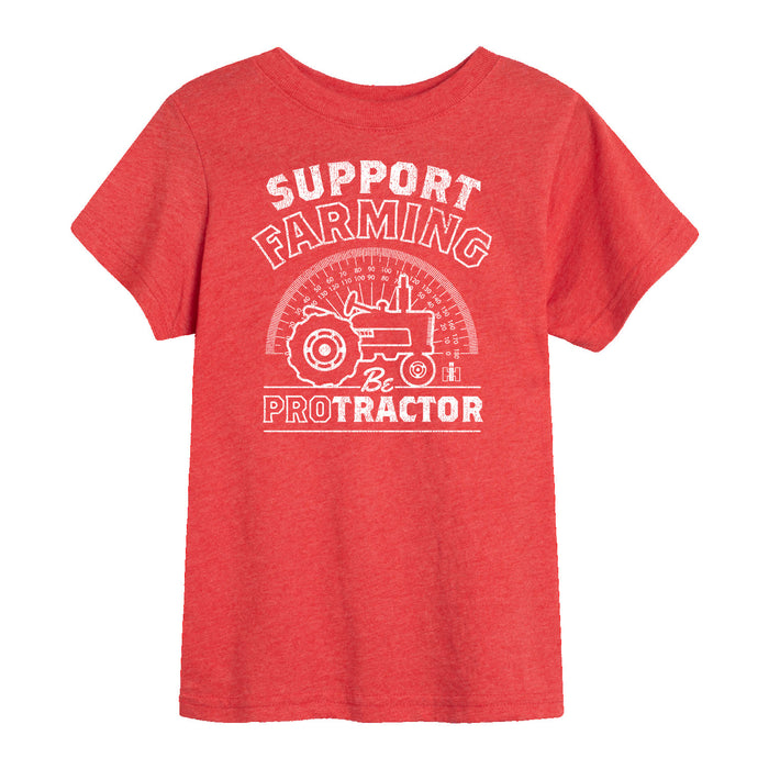 Support Farming be Protractor-Kids Boy Kids SHORT SLEEVE TEE
