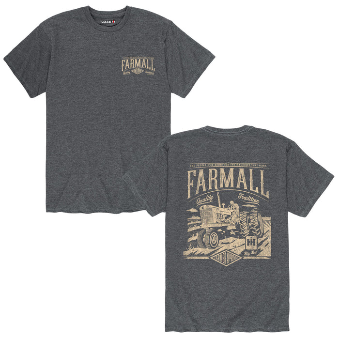 Vintage Farmall Cream On DarkMens Short Sleeve Tee