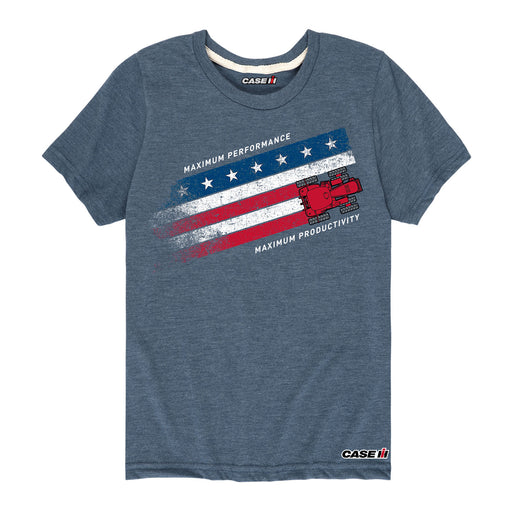 Magnum Rwb Stripe Case IH Short Sleeve Tee