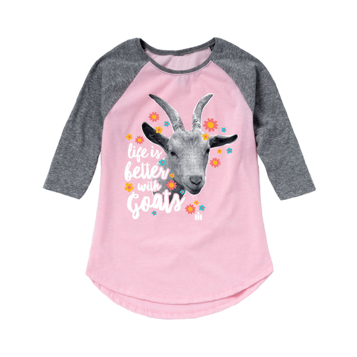 Life Is Better With Goats Shirt Tail Raglan