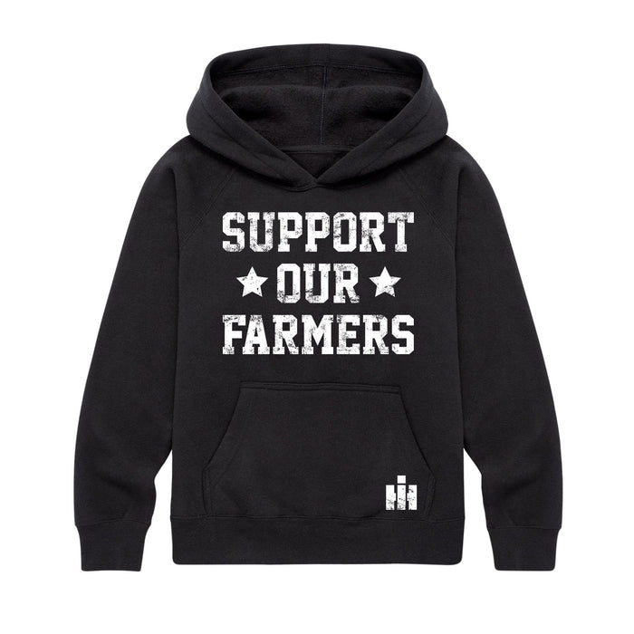 Support Our Farmers IH Kids Hoodie Kids Raglan Hoodie
