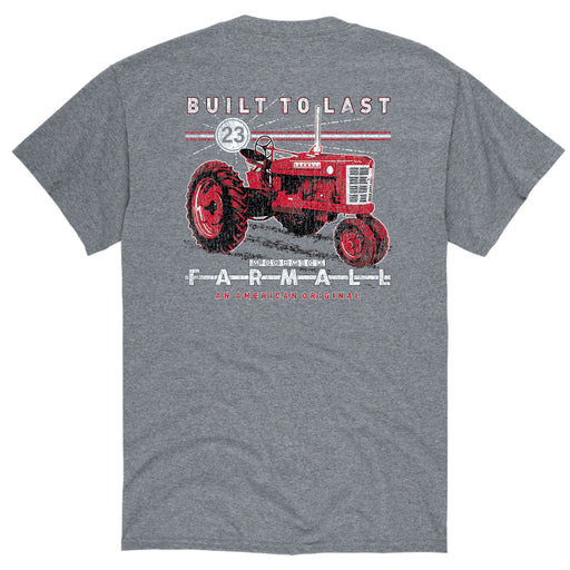Farmall Tractor Built To Last Vintage Men's Short Sleeve Tee