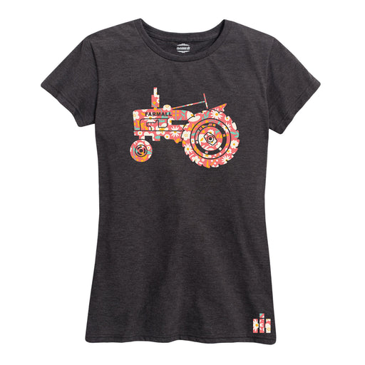 Floral Farmall Tractor IH Ladies Short Sleeve Classic Fit Tee