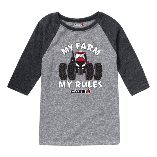 My Farm My Rules Case IH Kids Raglan