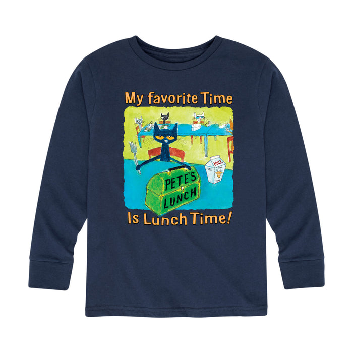 Pete The Cat My Favorite Time MultiKids Long Sleeve Tee