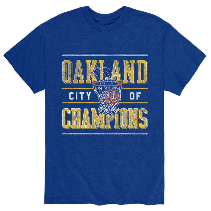 Oakland Ball And HoopAdult Short Sleeve Tee
