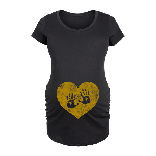 Handprints Maternity Tee