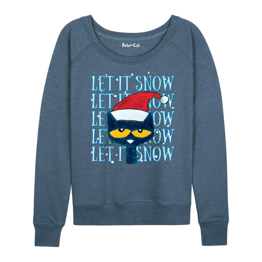PTC Let It Snow Ladies French Terry Pullover