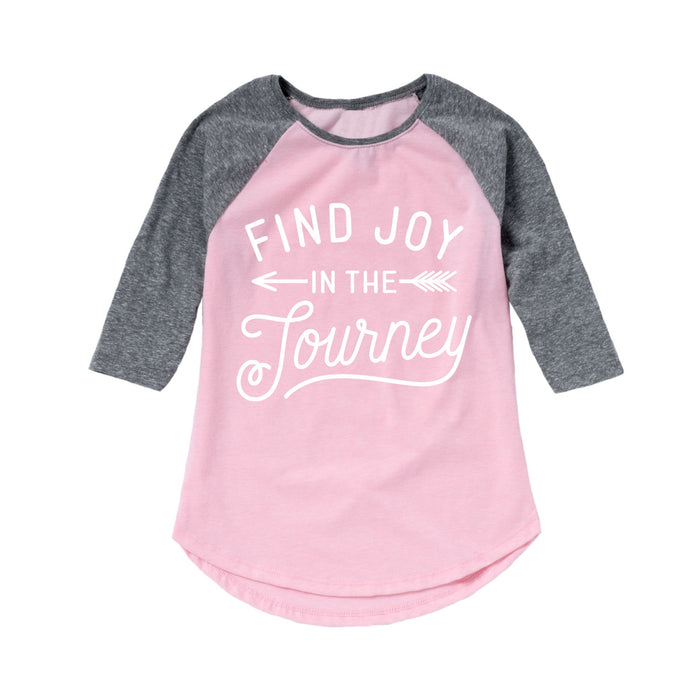 Find Joy In The Journey Kids Raglan