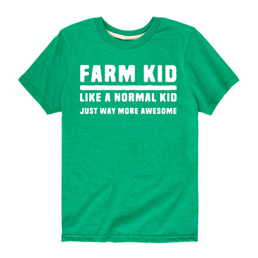 Farm Kid Like Normal Just Awesome Kids Short Sleeve Tee