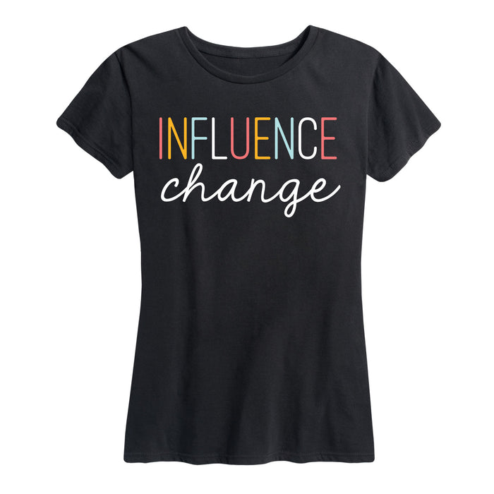 Influence Change Ladies Short Sleeve Classic Fit Tee