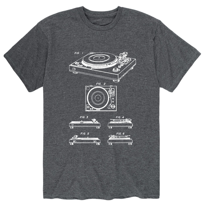 Turntable DiagramMens Short Sleeve Tee