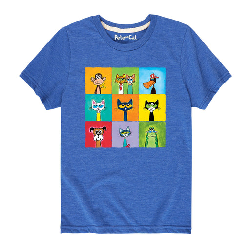 Ptc Family & Friends Collage Kids Short Sleeve Tee