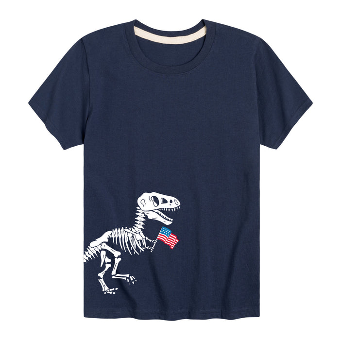 T Rex Flag Side HitYouth Short Sleeve Tee