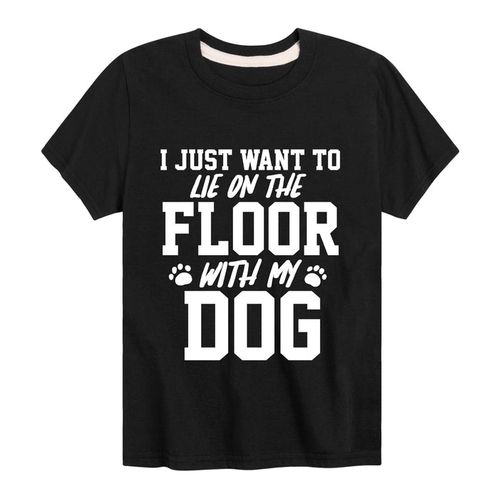 On The Floor With My DogYouth Short Sleeve Tee