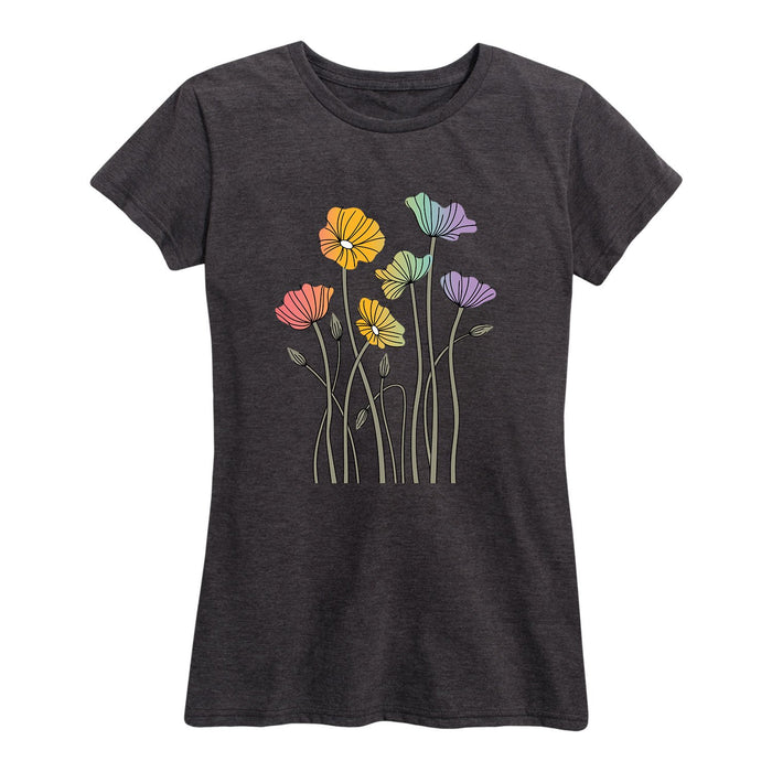 Rainbow Poppies - Women's Short Sleeve T-Shirt