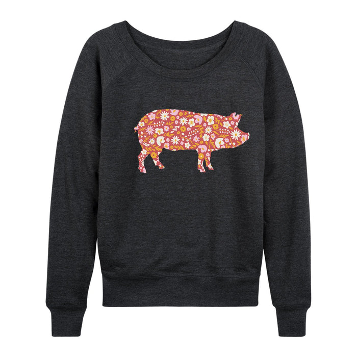 Pig Floral Fill - Women's Slouchy