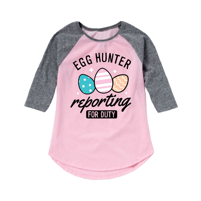Egg Hunter Reporting For Duty Kids Raglan