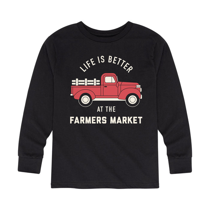 Life Is Better At The Farmers Market Kids Long Sleeve Tee