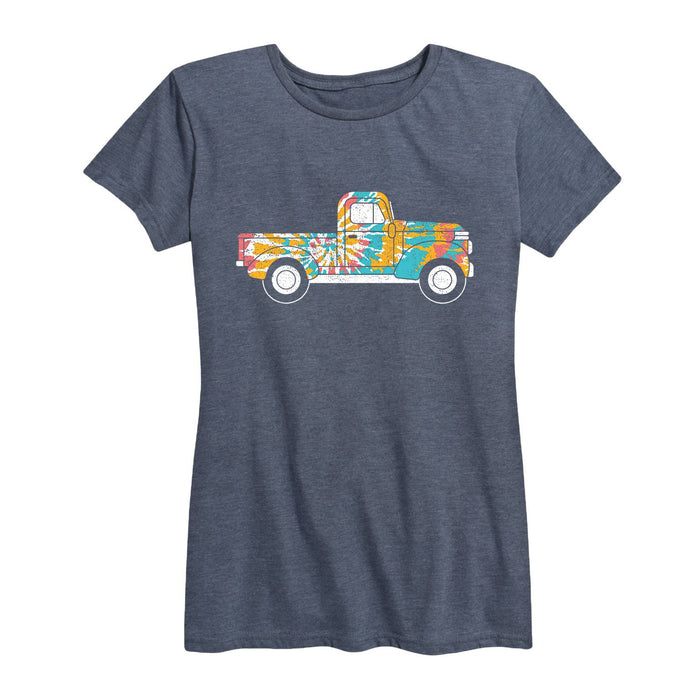Tie Dye Truck-Women's Short Sleeve T-Shirt