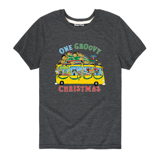 PTC One GroovyXmas Bus Kids Short Sleeve Tee