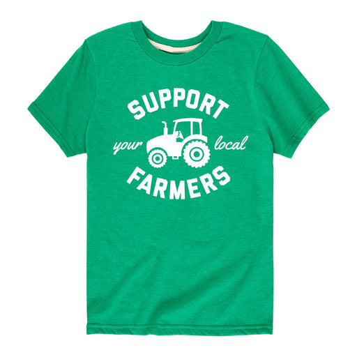 Support Your Local Farmers Kids Short Sleeve Tee