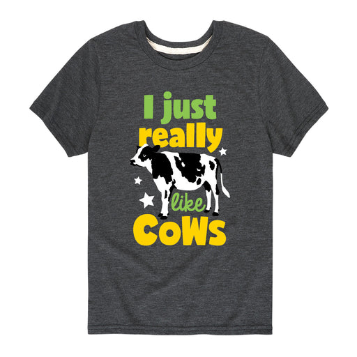 I Just Really Like Cows Kids Short Sleeve Tee