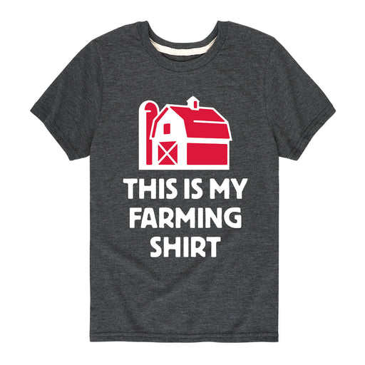 This Is My Farming Shirt Kids Short Sleeve Tee