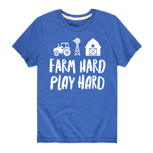 Farm Hard Play Hard Kids Tee