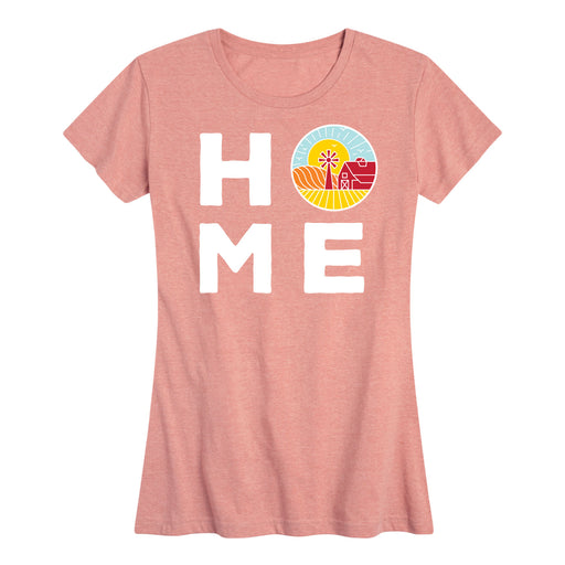 HOME With Farm Sunset Womens Tee