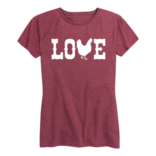 Love Chickens Womens Tee