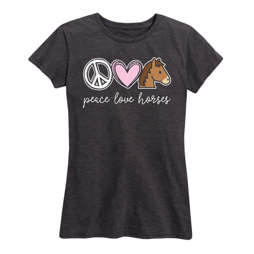 Peace Love Horses Womens Tee