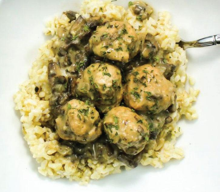 KosherBox® - Chicken Meatballs With Rice & Mushrooms