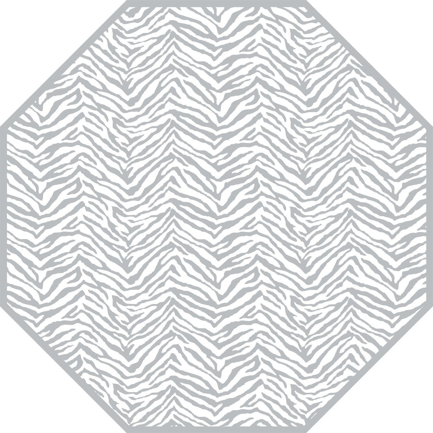 Two Sided Zebra And Dot Fan Octagon Placemat