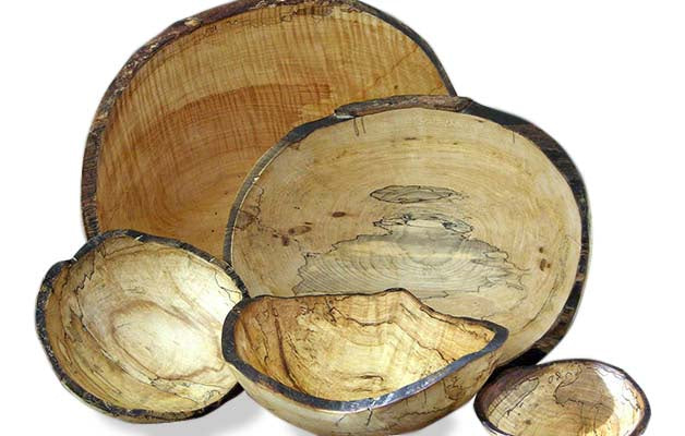 Spalted Maple Oval Bowls