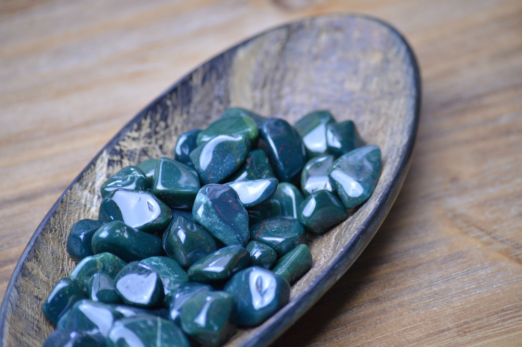 Bloodstone Healing Stone for Grounding, Centering and Balance