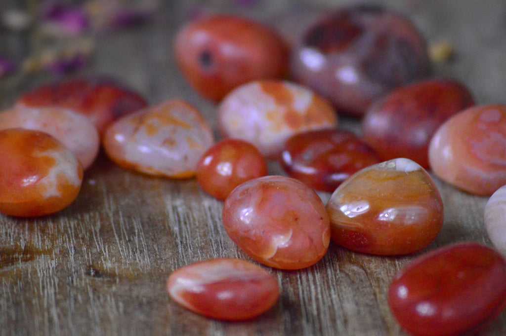Orange Carnelian for Vitality, Courage, and Creativity