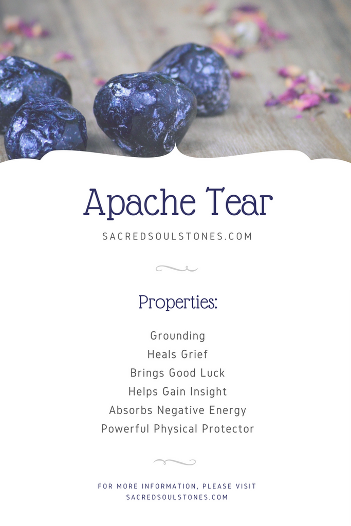 Apache Tear Stone for Grounding and Protection - Healing Properties