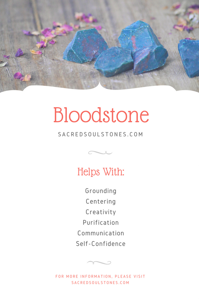 Buy Bloodstone Grounding Centering Protection Stone - Shop Sacred Soul Stones